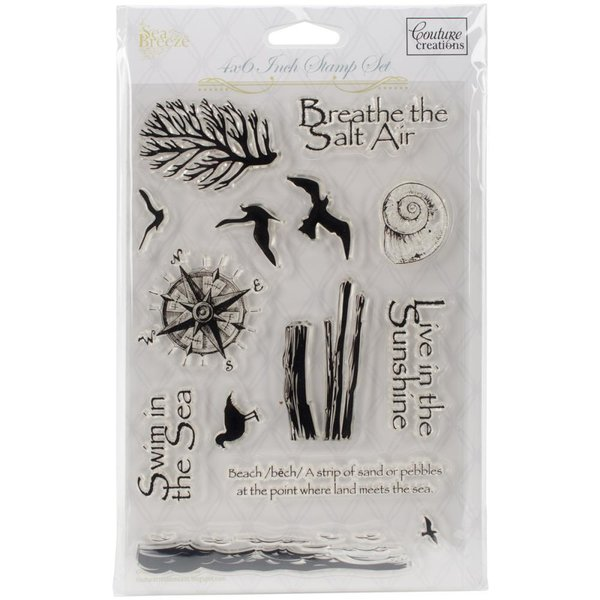 Couture Creations Sea Breeze - Beside The Beach Clear Stamp (CO724677)