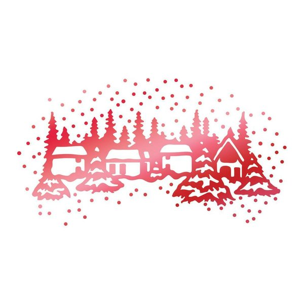 Couture Creations Hotfoil Stamp Winter Town (CO725526)