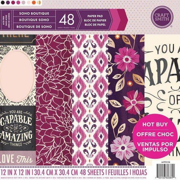 "Craft Smith: Soho Boutique Paper Pad 12*12"" (MPP0198)"