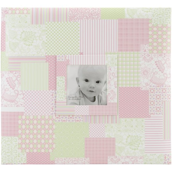 "MBI: Baby Post Bound Album W/Window Pink 12""X12"" (860072)"