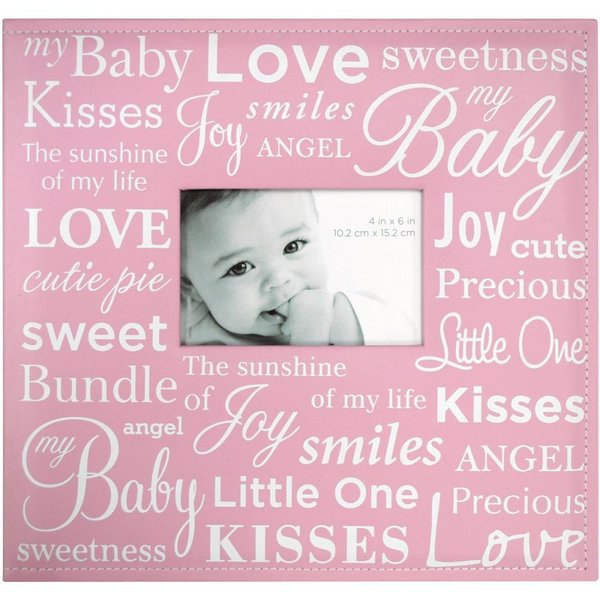 "MBI: Expressions Post Bound Album Baby Pink W/Window 12""X12"" (850033)"