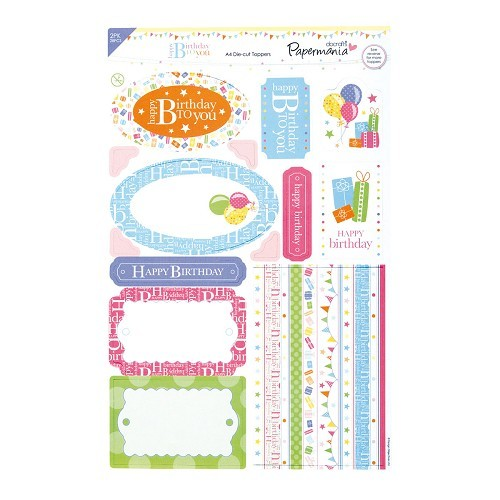 Papermania: Happy Birthday To You - A4 Die-Cut Toppers - (2Pk)