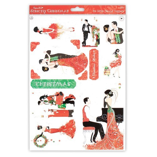 Papermania: Strictly Christmas - A4 Glitter Die-Cut Toppers (2pk) (PMA 157142)