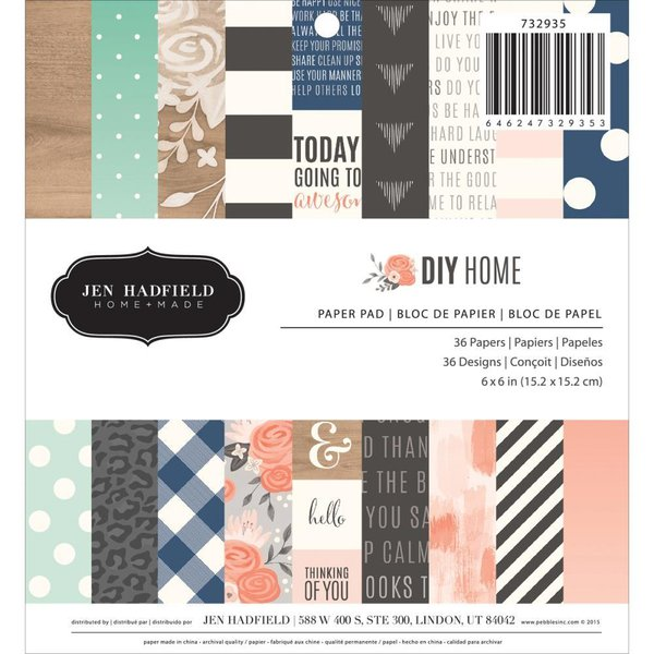 "Pebbles: DIY Home Paper Pad 6X6"" (80015)"