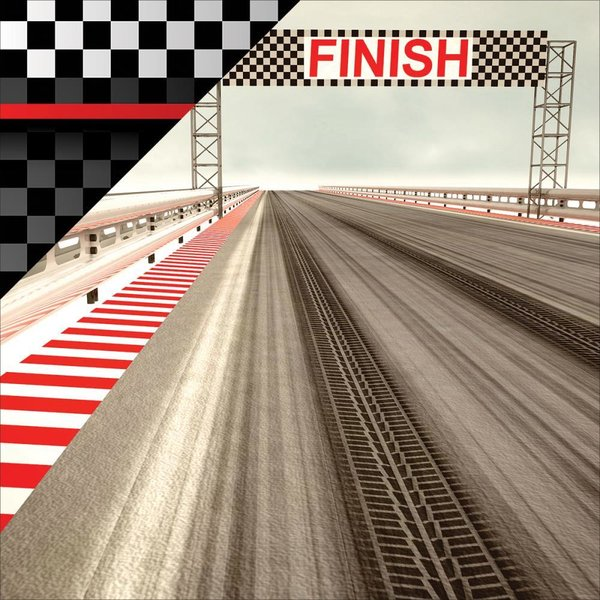 "Reminisce: Checkered Flag - Driven Double-Sided Cardstock 12""X12"" (CKF12 - 3)"