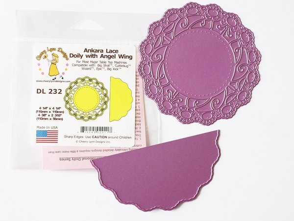 Cheery Lynn Doily Mal Ankara lace with angel wing (DL232)