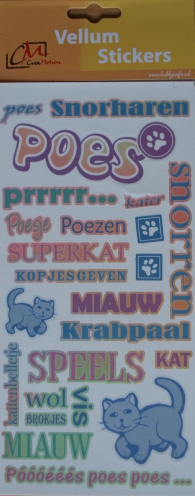 CreaMotion: vellum stickers poes