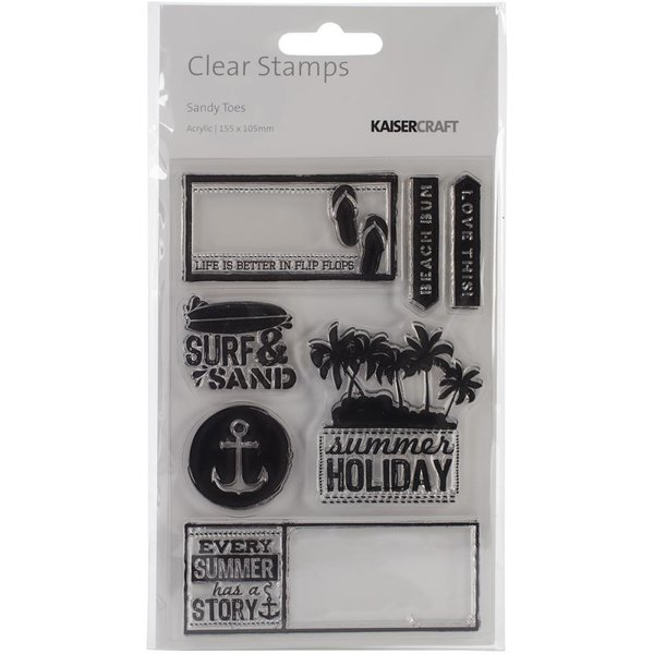 "Kaisercraft: Sandy Toes Clear Stamps 6.25""X4"" (CS200)"
