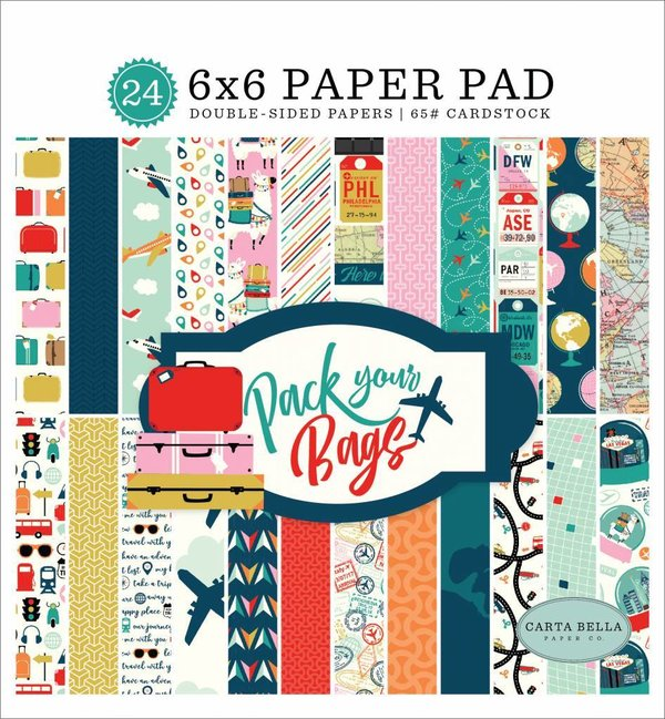 Carta Bella Pack Your Bags 6x6 Inch Paper Pad (CBPYB86023)