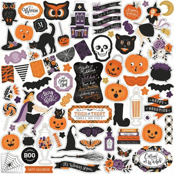 Echo Park: Bewitched 12x12 Inch Sticker Sheet (BE166014)