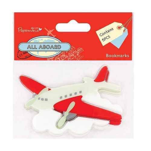 Docrafts: All Aboard -  Bookmark (5pcs) - Airplane (PMA 358700)