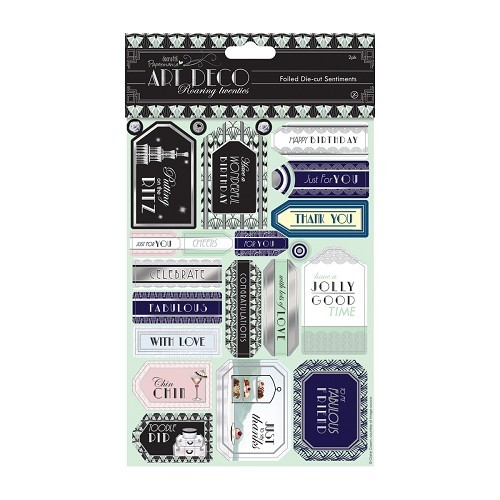Docrafts: Art Deco Die-cut Sentiments Foiled (2pk) (PMA 157212)