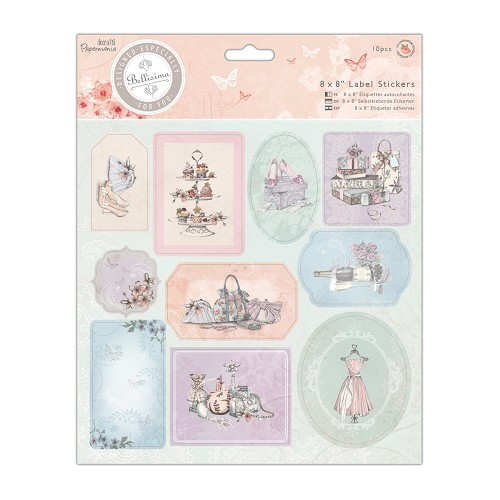 Docrafts: Bellisima 8 x 8 Label Stickers (10pcs) (PMA 157225)