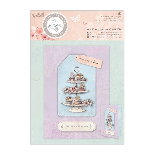 Docrafts: Bellisima A5 Decoupage Card Kit - Cupcakes (PMA 169093)