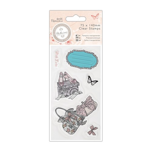 Docrafts: Bellisima 75 x 140mm Mini Clear Stamp - Shoes & Bags (PMA 907197)