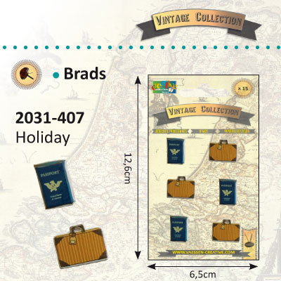 Vaessen Creative Vintage Collection Holiday Brads (2031-407)
