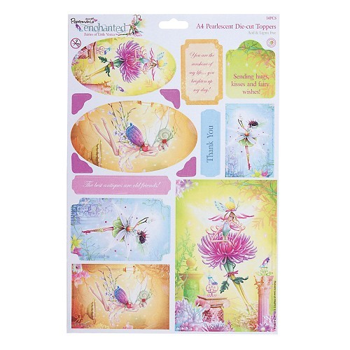 Docrafts: Enchanted Fairies A4 Die-Cut Pearlescent Toppers -(Citrine) (PMA 157116)