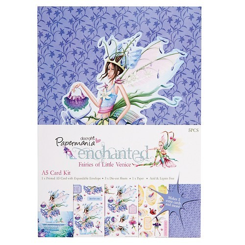 Docrafts: Enchanted Fairies A5 Pearlescent Card Kit