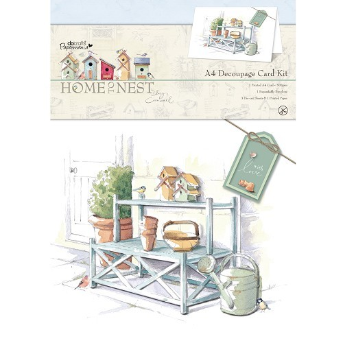 Docrafts: Home To Nest - Lucy CromwellA4 Decoupage Card Kit (PMA 166101)