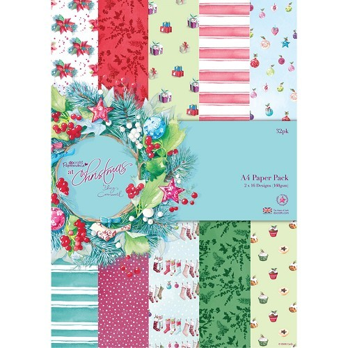 Docrafts: Lucy Cromwell A4 Paper Pack (32pk) - At Christmas (PMA 160151)