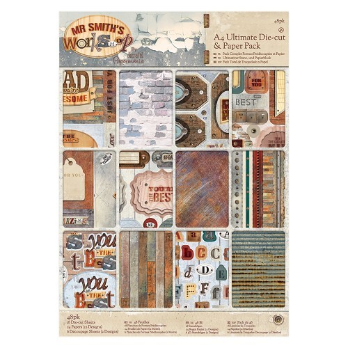 Docrafts: Mr Smith's Workshop A4 Ultimate Die-cut & Paper Pack (48pk) (PMA 160323)