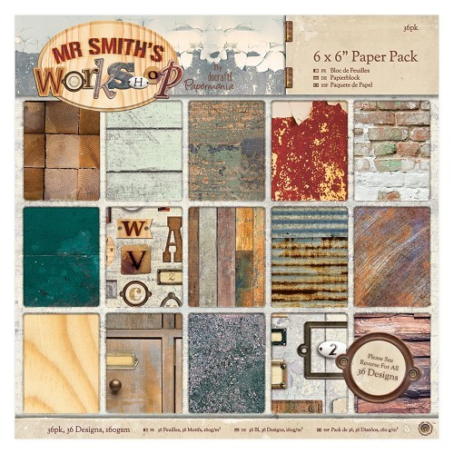 Docrafts: Mr Smith's Workshop 6 x 6 Paper Pack (32pk) (PMA 160322)