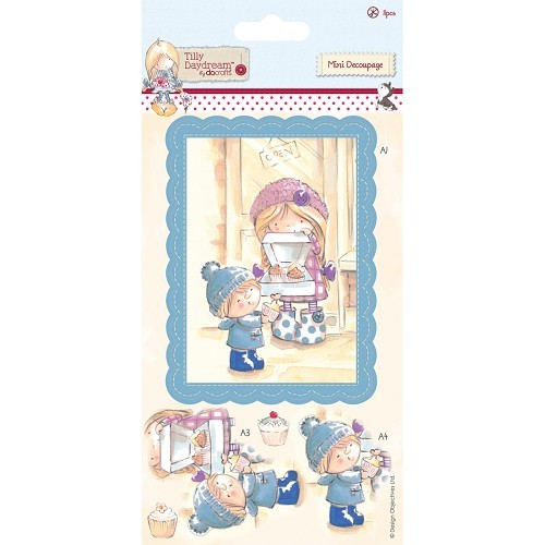 Docrafts: Tilly Mini Decoupage (11pcs) - Cake Shop