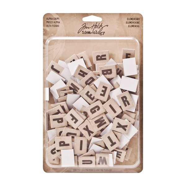 Tim Holtz Idea-ology alpha chips elementary (TH93116)