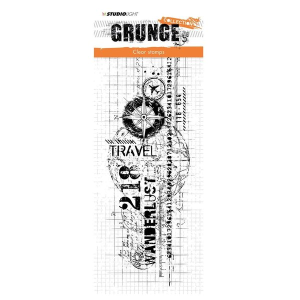 Studio Light: clear stamp 297x105mm Grunge collection nr.337 (STAMPSL337)