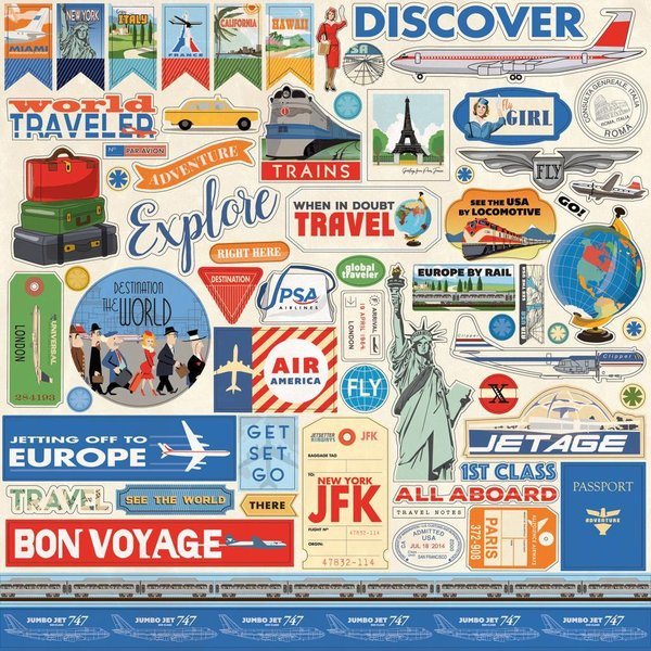 Carta Bella: Passport 12x12 Inch Element Sticker (CBPAS84014)