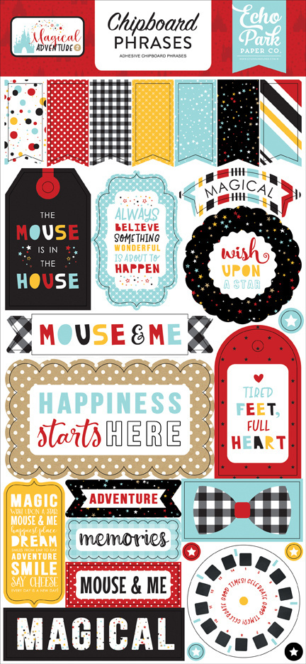 Echo Park Magical Adventure 2 6x13 Inch Chipboard Phrases (MAG177022)