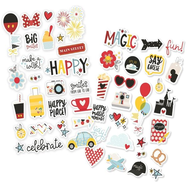 "Simple Stories Say Cheese 4  Puffy Stickers 4""X6"" 2/Pkg (SAY10542)"
