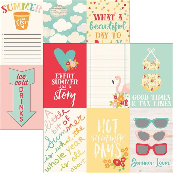 "Simple Stories: Summer Days 4""X6"" Vertical Journaling Cards (SDELE -  9113)"