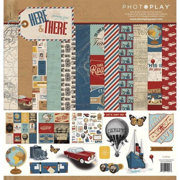 "Photoplay: Here & There Collection Pack 12""X12"" (HAT9296)"
