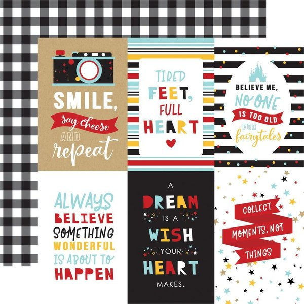 "Echo Park: Magical Adventure 2 4""X6"" Journaling Cards (MAG177 - 11)"