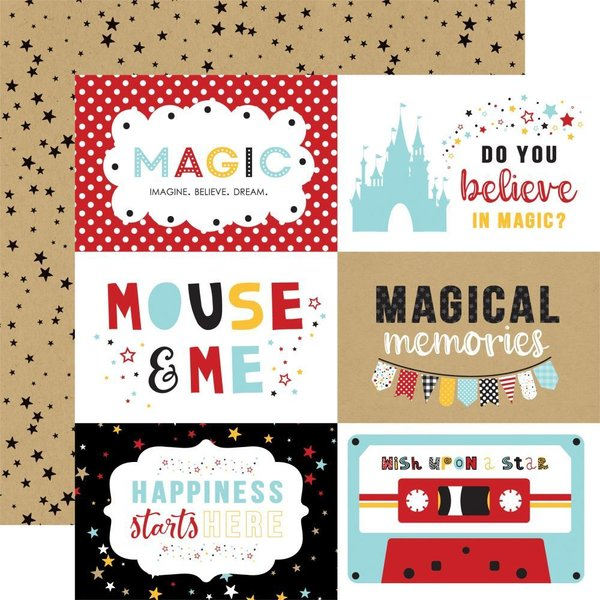 "Echo Park: Magical Adventure 2 6""X4"" Journaling Cards (MAG177 - 8)"