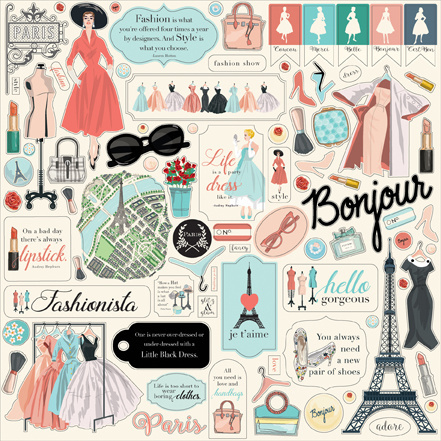Carta Bella: En Vogue 12x12 Inch Element Sticker (CBEV103014)
