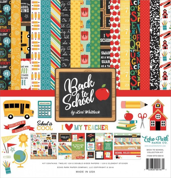 Echo Park: Back to School 12x12 Inch Collection Kit (BTS156016)