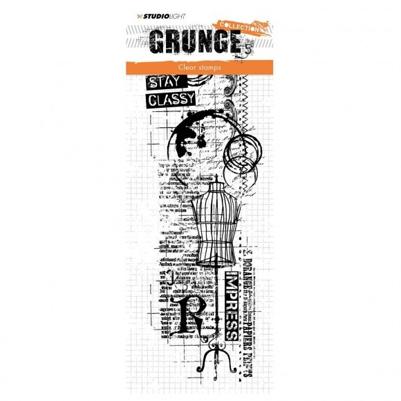 Studio Light: clear stamp 297x105mm Grunge collection nr.338