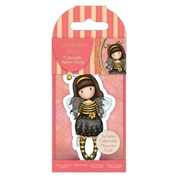 Gorjuss: Collectable Mini Rubber Stamp No.66 Bee-Loved (GOR 907331)