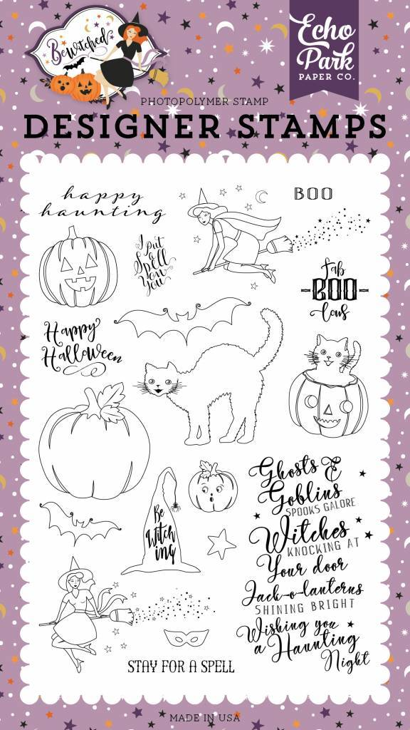 Echo Park: Ghosts and Goblins Clear Stamps (BE166043)