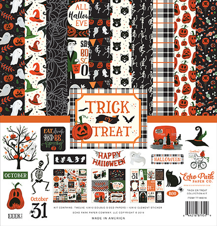 Echo Park: Trick or Treat 12x12 Inch Collection Kit (TT186016)