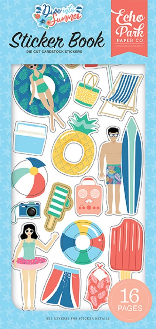 Echo Park: Dive Into Summer Sticker Book (DIS210029)