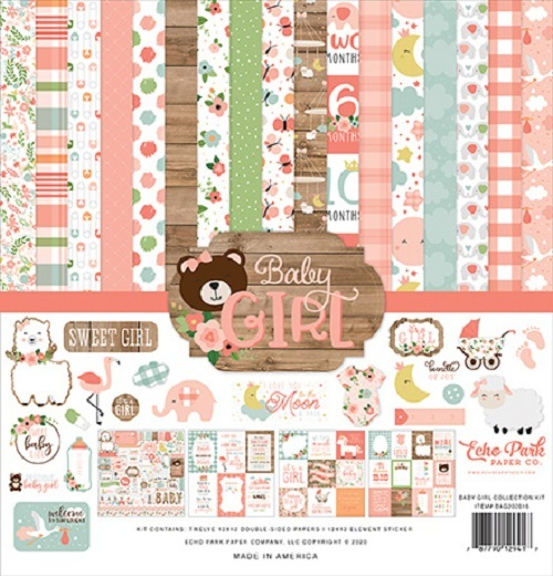 Echo Park: Baby Girl 12x12 Inch Collection Kit (BAG202016)