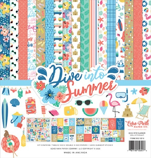 Echo Park: Dive Into Summer 12x12 Inch Collection Kit (DIS210016)