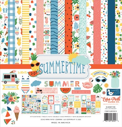 Echo Park: Summertime 12x12 Inch Collection Kit (SUM209016)