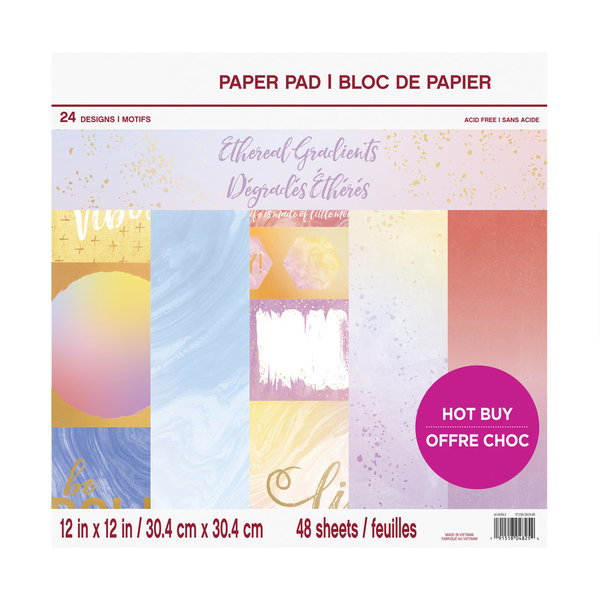 Craft Smith: Ethereal Gradients 12x12 Inch Paper Pad (MSE5207)