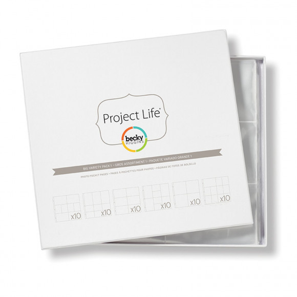Project life: Becky Higgins photo pocket pages 10x6 variety pack 30,5x30,5cm  (380001)