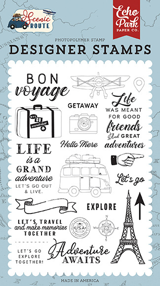 Echo Park Let's Go Travel Clear Stamps (SR212042)