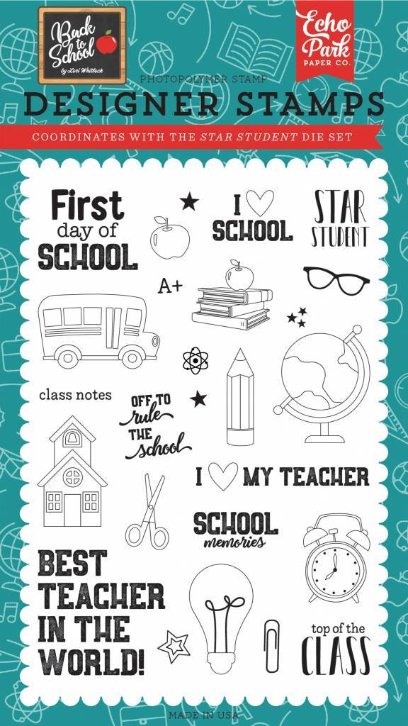 Echo Park Star Student Clear Stamps (BTS156043)